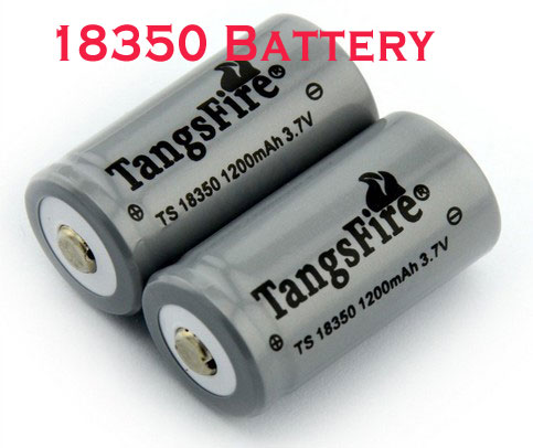 18350 Li-ion rechargeable battery