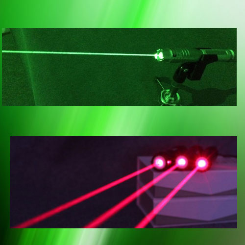 1000mw powerful green laser pointer and a 200mw red lazer pointer