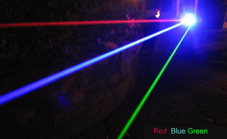 Newest 1W Blue Laser Pointer Water-proof and Focusable
