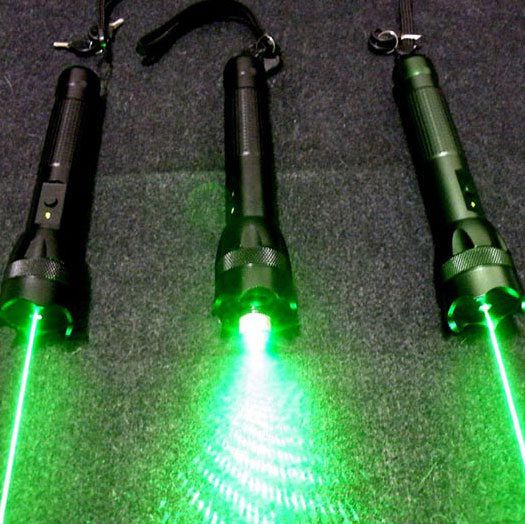 300mw Green Laser glare flashlight for outdoor -- With Pulsating mode- Free shipping