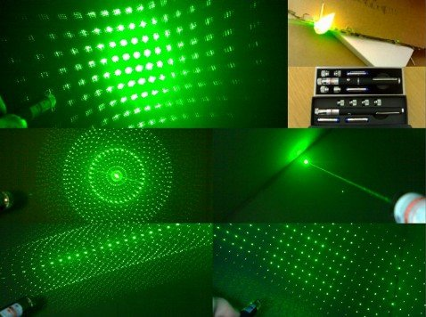 200mw 5in1 green laser pointer with 5 amazing Pattern Heads