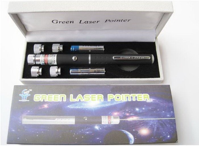 200mw 5in1 green laser pointer with 5 amazing Pattern Heads - Click Image to Close