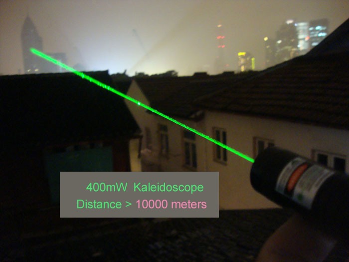 Powerful Brand New 400mw Green Laser Pointer with Kaleidoscope