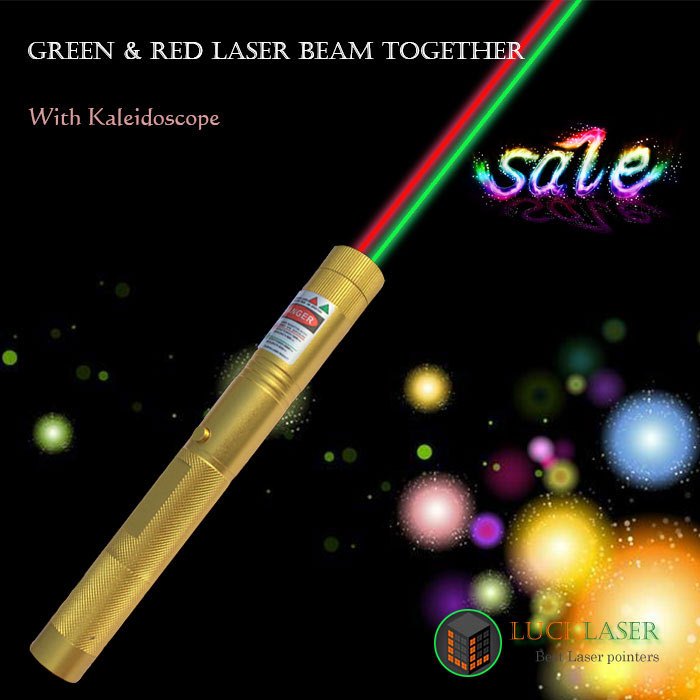 Green&Red laser beam together disco laser pen with Kaleidoscope Factory Price