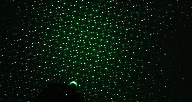 50MW Kaleidoscope GREEN LASER WITH FIVE HEADS