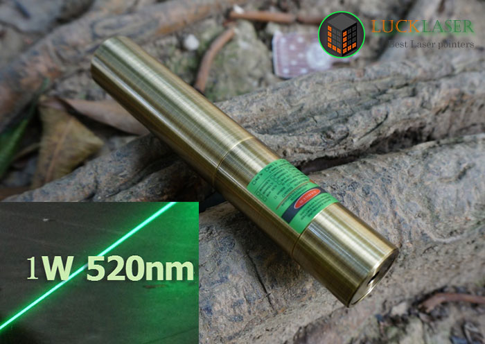 520nm 500mw~1000mw grass green laser pointer Bronze style