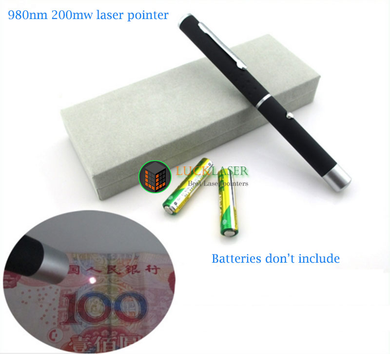 980nm 200mw IR Laser pointer pen style Infrared discriminator