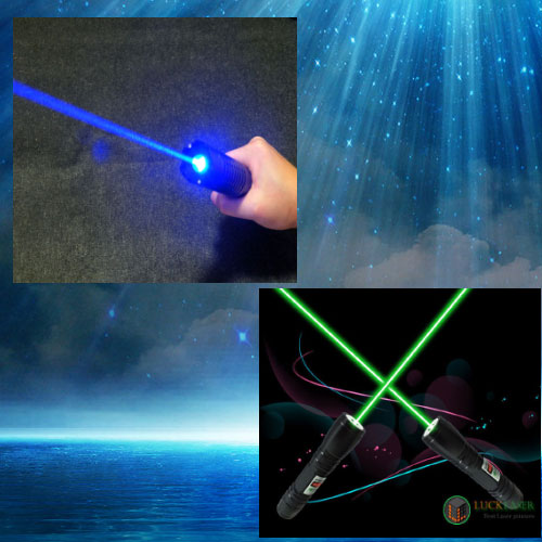 2000mw blue laser pointer and a 200mw green laser pointer sold together
