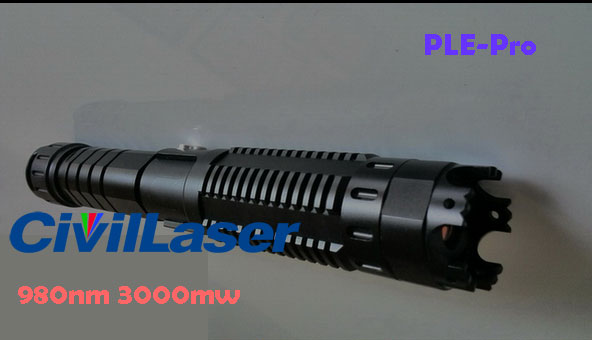 980nm 3W 3000mw Infrared Laser Pointer invisible laser beam